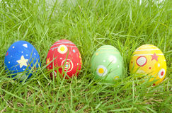 Easter eggs. In the grass Royalty Free Stock Images