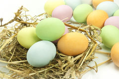 Easter eggs. Chocolate easter eggs in various colors Stock Photo