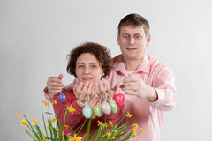 Easter eggs royalty free stock photos