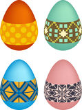 Easter eggs. Vector pack of decorated easter eggs Stock Photo