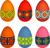 Easter eggs. Vector pack of decorated easter eggs Royalty Free Stock Images