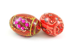 Easter eggs. Isolated on a white Royalty Free Stock Photo