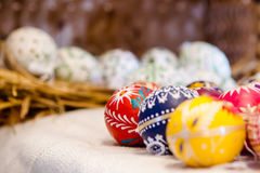 Easter Eggs. Colorful easter Eggs for sale Royalty Free Stock Photography