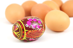 Easter eggs. Isolated on a white royalty free stock photos