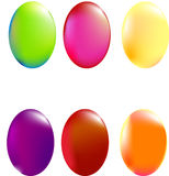 Easter Eggs. Illustration of six different easter eggs Royalty Free Stock Photography