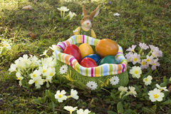 Easter eggs. The searches of Easter eggs are a popular custom to the Easter party Royalty Free Stock Photo