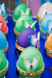 Easter eggs. With colourful butterflies Stock Photos