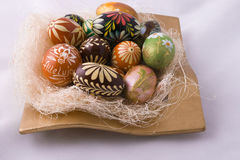 Easter eggs. Hand craft and decoration Stock Photo