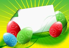 Easter eggs. On the green background Royalty Free Stock Photo