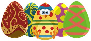 Easter Eggs. Illustration of colorful Easter eggs. EPS also available Stock Illustration