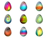 Easter Eggs. In white background vector illustration