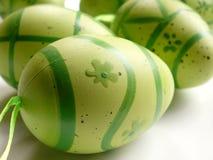 Easter eggs. Green easter eggs Stock Image