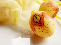 Easter eggs. Yellow easter eggs Royalty Free Stock Photo