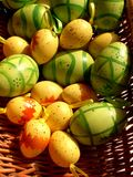 Easter eggs. Colored eggs Stock Images