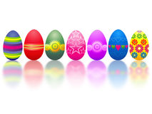 Easter eggs. Collection - illustration. Design elements Royalty Free Stock Photography