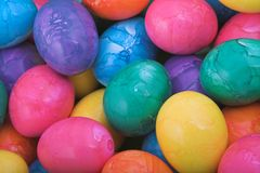 Easter eggs. Colorful easter eggs stock photo