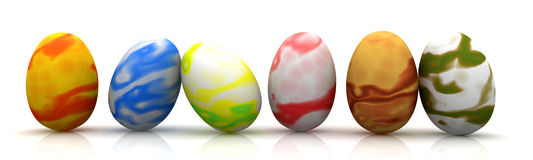 Easter Eggs. 3D rendered Illustration Royalty Free Stock Image