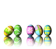 Easter Eggs. A rendering of colorful easter eggs Stock Photos