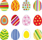Easter eggs. Twelve Easter eggs, vector illustration Royalty Free Stock Photography