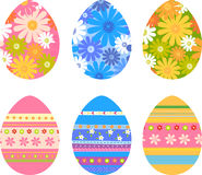 Easter eggs. Vector illustration of Easter eggs with small flowers Stock Image