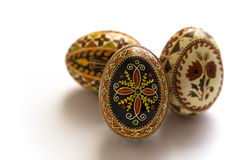 Easter eggs. Ukranian decorated easter eggs on white background royalty free stock image
