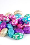 Easter Eggs. Chocolate easter eggs on a white background Stock Image