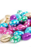 Easter Eggs. Chocolate easter eggs on a white background Stock Photography