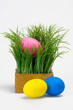 Easter with eggs Royalty Free Stock Photography