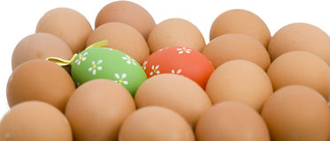 Easter eggs. And white backgrounds Stock Photo