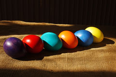 Easter eggs. Tradition, colour eggs for a religious holiday Easter Royalty Free Stock Image