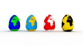 Easter eggs. Image generated in 3D application Royalty Free Stock Photography