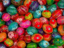 Easter eggs. Easter painted eggs royalty free stock images