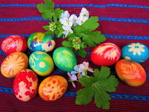 Easter eggs. Unique colorful eggs from Bulgaria decorated and painted before Easter Royalty Free Stock Images