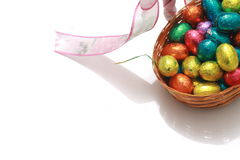 Easter Eggs. Chocolate easter eggs stock images