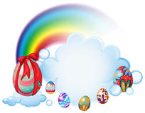 Easter eggs above the clouds Royalty Free Stock Photography