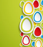 Easter eggs abstract colorful background. Royalty Free Stock Photos