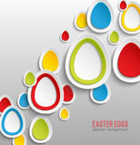 Easter eggs abstract colorful background. Royalty Free Stock Photo