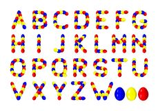 Easter eggs alphabet - cdr format Stock Photography