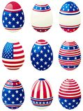 Easter eggs with american  flag Royalty Free Stock Image