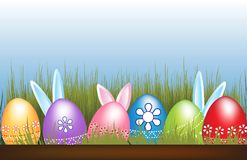 Easter Eggs And Bunnies Vector Image Stock Image