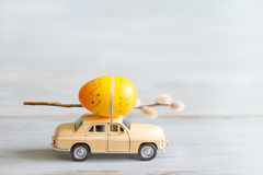 Free Easter Eggs And Catkins On Car Abstract Retro Concept Stock Images - 67581374