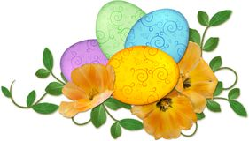 Easter eggs arrangement Stock Photography