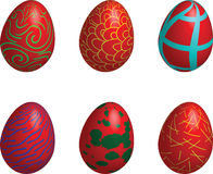 Easter eggs art Royalty Free Stock Photo