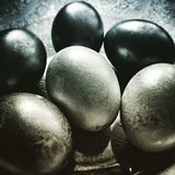 Easter eggs. Artistic look in duotone style. Stock Image