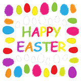 Easter eggs as doodles Stock Photography