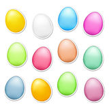 Easter Eggs as Stickers Stock Photo