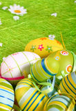 Easter eggs a background Royalty Free Stock Image