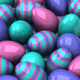 Easter eggs background 3d Royalty Free Stock Image