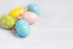 Easter eggs. On a background royalty free stock image