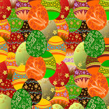 Easter eggs background. stock image